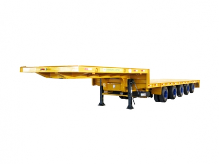 5 Axles Extendable Lowbed Trailer